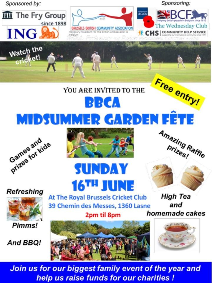 BBCA Midsummer British Garden Fête (16 June)